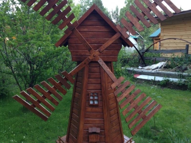 Декоративная мельница своими руками фото 77