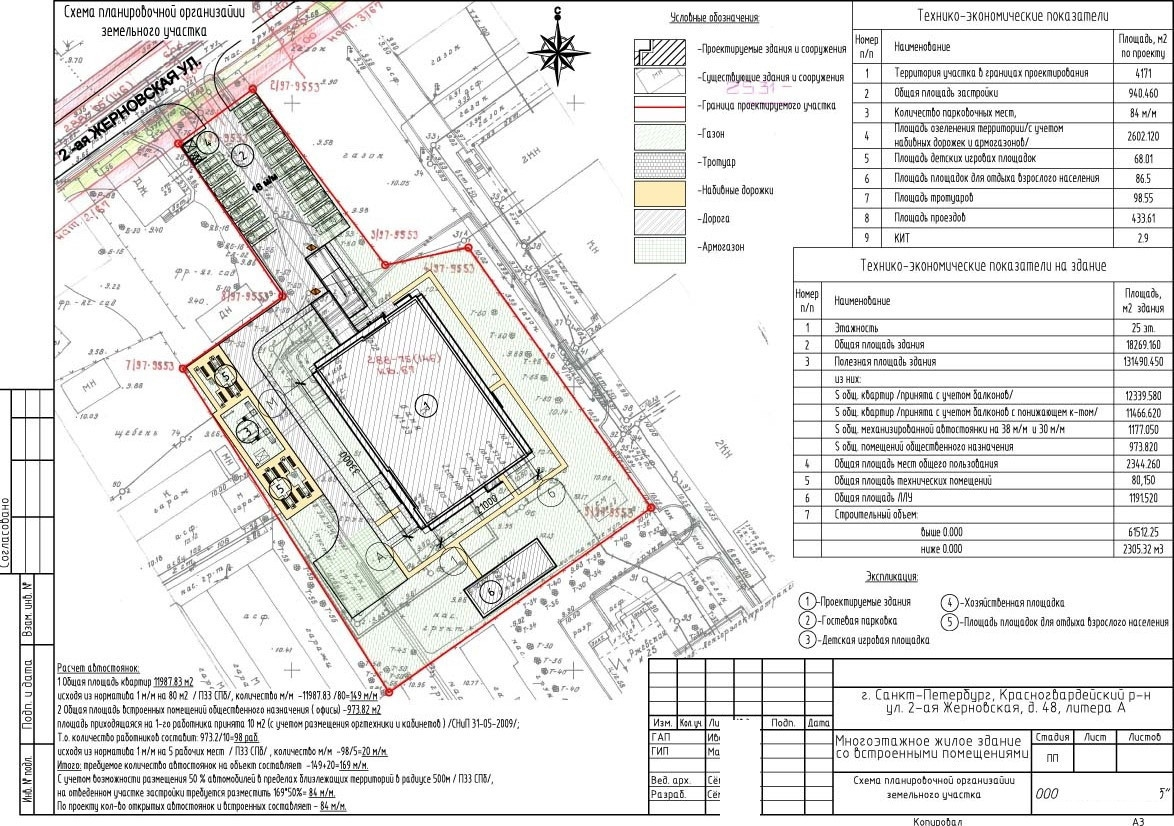 Схема расположения объекта земельном участке 500