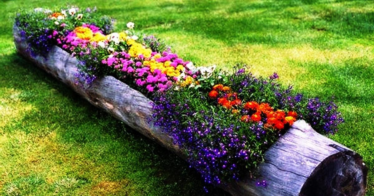 Подставка для цветов из дерева 12
