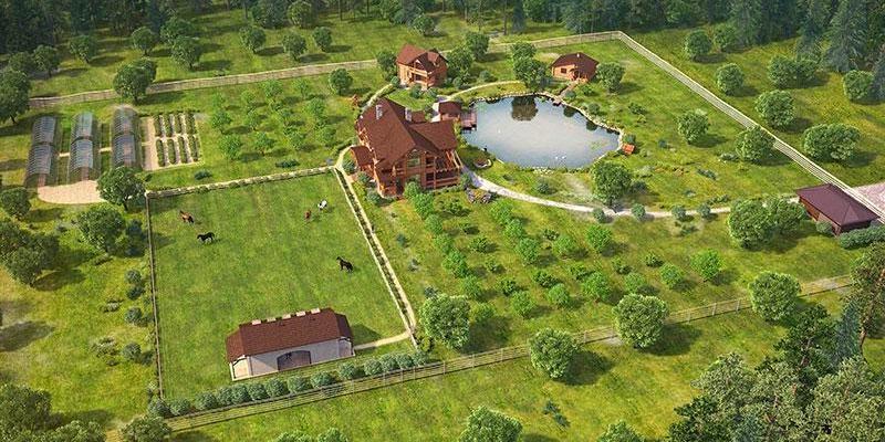 площадь участка для строительства дома